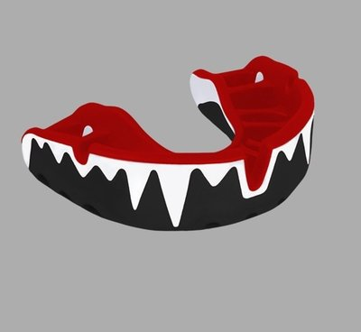 OPRO Platinum gebitsbeschermer met tandenmotief