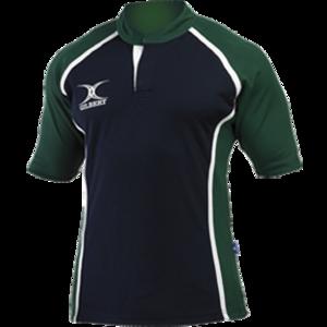 Gilbert Xact rugby shirt. Maat XXL Navy Bottle