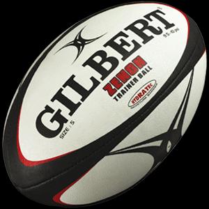 Gilbert Zenon rugbybal zwart size 4.