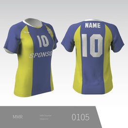 Eigen ontwerp Dames volleybal T-shirt met raglan mouw