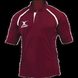 Gilbert Xact rugby shirt Maroon