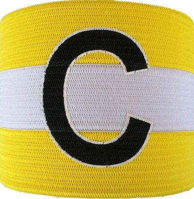 Aanvoerdersband geel/wit