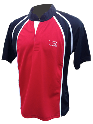 RUCO rugby shirt rood zwart