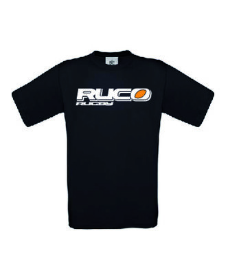 Ruco Rugby T-shirt zwart logo