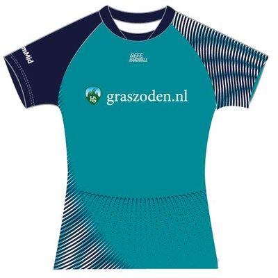GEFF Dames Trainingsshirt groen LimMid
