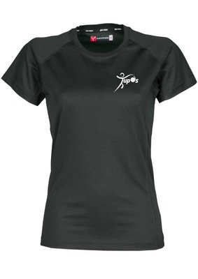 Tupos T-shirt Zwart Dames model 100% Polyester