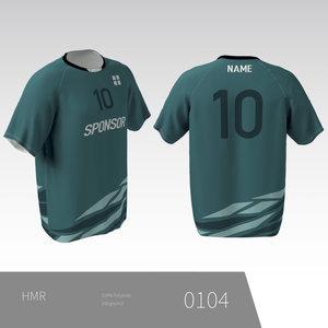 Eigen ontwerp Unisex volleybalshirt met raglan mouw