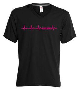DENZZ T-shirt zwart hartslag
