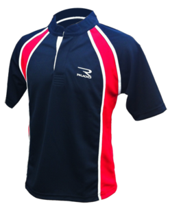 RUCO rugby shirt zwart rood