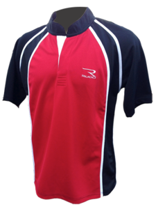 RUCO rugby shirt rood zwart